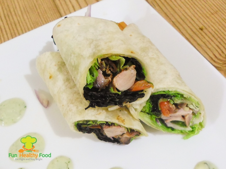 Barbecued Chicken Wraps