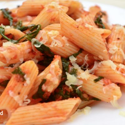 Spinach and Penne Pasta